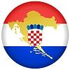 Taste in den Farben von Kroatien