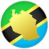 Flagge in den Farben der Schaltfläche Tansania