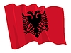 wehende Flagge von Albanien