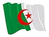 wehende Flagge von Algerien