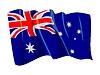 挥舞着澳大利亚国旗 | 向量插图