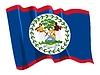 wehende Flagge von Belize