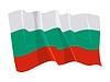 wehende Flagge von Bulgarien
