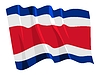 挥舞着国旗的哥斯达黎加 | 向量插图