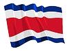 Wehende Flagge von Costa Rica | Stock Vektrografik