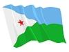 wehende Flagge von Dschibuti