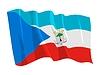 wehende Flagge von Äquatorialguinea