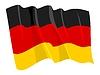 挥舞着国旗的德国 | 向量插图