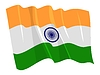 wehende Flagge von Indien