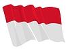 Wehende Flagge von Indonesien | Stock Vektrografik