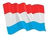 룩셈부르크의 흔들며 깃발 | Stock Vector Graphics