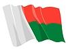 挥舞着国旗的马达加斯加 | 向量插图