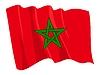 모로코의 흔들며 깃발 | Stock Vector Graphics