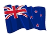 뉴질랜드의 흔들며 깃발 | Stock Vector Graphics