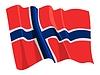 Flagą Norwegii | Stock Vector Graphics