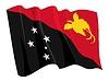 wehende Flagge von Papua-Neuguinea