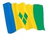 ID 3250939 | Wehende Flagge von Saint Vincent und Grenadinen | Stock Vektorgrafik | CLIPARTO