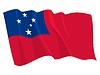 ID 3250943 | Wehende Flagge von Samoa | Stock Vektorgrafik | CLIPARTO