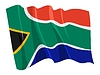 Vector clipart: waving flag of South Africa