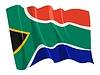 남아프리카 공화국의 국기를 흔들며 | Stock Vector Graphics