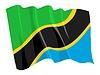 wehende Flagge von Tansania