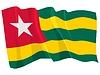 wehende Flagge von Togo