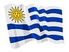 wehende Flagge von Uruguay