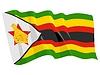 wehende Flagge von Simbabwe