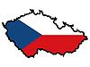Karte in den Farben der Tschechischen Republik