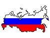 Карта России с флагом