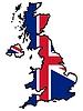 ID 3257318 | Mapa w barwach Wielkiej Brytanii | Klipart wektorowy | KLIPARTO