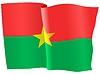 wehende Flagge von Burkina Faso