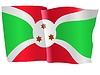 wehende Flagge von Burundi