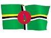 wehende Flagge von Dominica