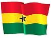 wehende Flagge von Ghana