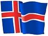 wehende Flagge von Island