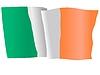 winkenden Flagge von Irland