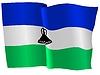 wehende Flagge von Lesotho