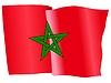 wehende Flagge von Marokko