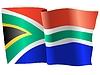 wehende Flagge von Südafrika