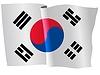 wehende Flagge von Südkorea