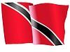 wehende Flagge von Trinidad und Tobago
