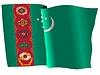 wehende Flagge von Turkmenistan