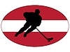 Eishockey-Farben von Lettland | Stock Vektrografik