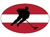 Hokej kolory Łotwy | Stock Vector Graphics