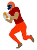 American Football Spieler | Stock Vektrografik