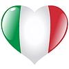 Herz mit Flagge von Italien