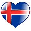 Herz mit Flagge von Island