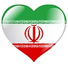 Herz mit Flagge von Iran