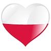 Herz mit Flagge Polens